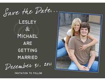 Save the Date Photo Cards      DIGITAL FILE or print options available