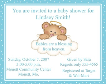 High Quality 20 Baby Shower Invitations   Babies Are A Blessing From Heaven   Baptim  Invitation   Christening