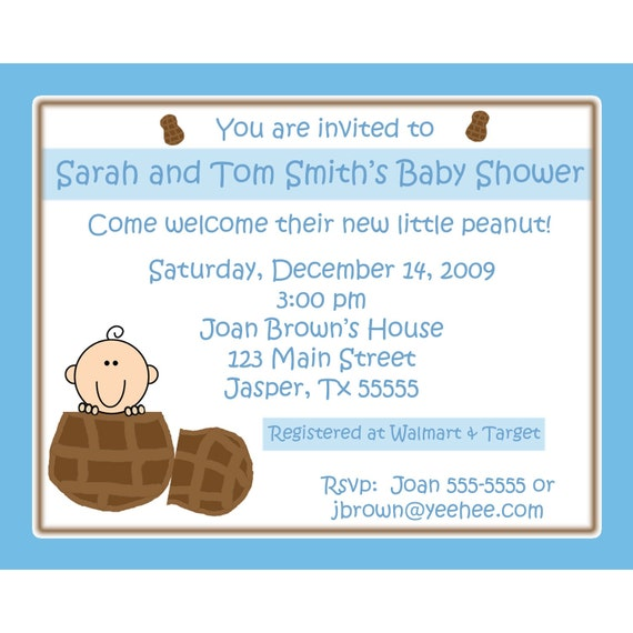 20 personalized baby shower invitations little peanut