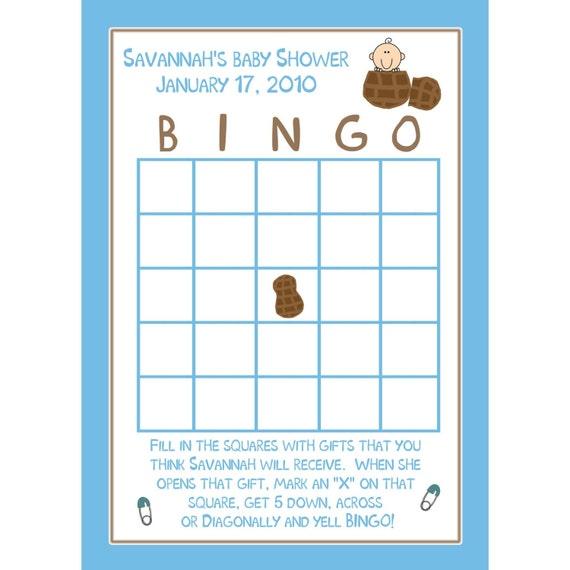 24 Personalized Baby Shower Bingo Cards LITTLE PEANUT