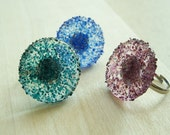 Handmade Colored Glass Ring
