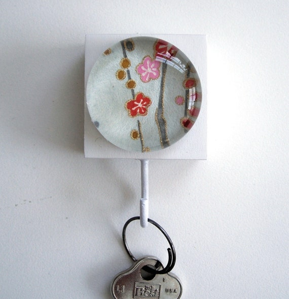 Blue Cherry Blossom Key/Jewelry Holder LAST ONE