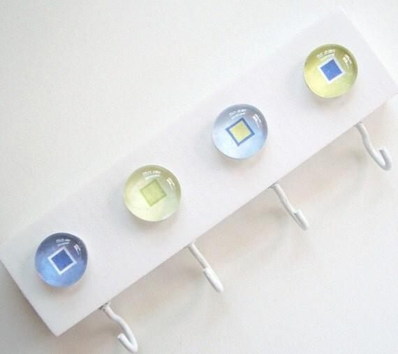 Four Square- Key Hook, Key Rack, Key Holder, Wall Hook, Jewelry Organizer