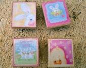 Lets Celebrate Spring - Easter Scrabble Tile Magnets