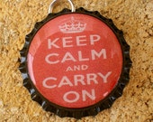 Keep Calm and Carry On - Pendant - Red