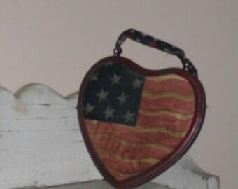handpainted heart plaque