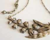 Lily of the Valley Necklace in Brass