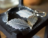 Silver Leaf Garland Bracelet