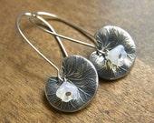 Lilypad Earrings in Silver