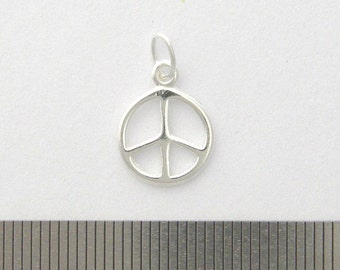 PEACE CHARM Sterling Silver with Jump Ring