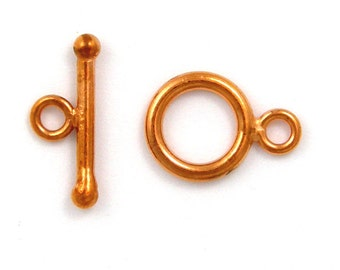 5 Sets 12mm TOGGLE CLASP Solid Copper
