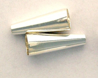 2 - 17mm CONES Sterling Silver