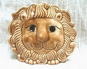 Adorable Lion--Vintage Wall Pocket