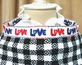 LOVE Buffalo Plaid Vintage Poncho