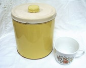 Vintage Yellow Decoware Canister