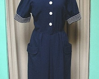 Vintage Nautical Dress California Girl
