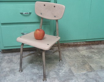 Vintage Industrial School Chair Kindergarten