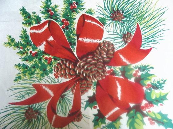 Lovely Vintage Christmas Yule Pinecone Runner