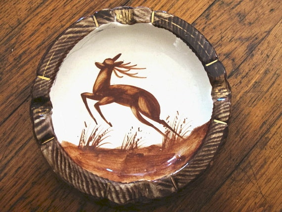 Vintage Stag Ashtray Belgium