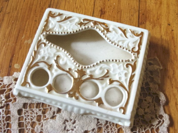 Vintage Lipstick and Tissue Holder Tray