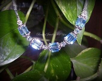 Sapphire Blue Bridesmaid Necklace: Bridesmaid Jewelry, Bridesmaid Necklace, Jewelry for Brides, Wedding Necklace, Something Blue, Bride Gift
