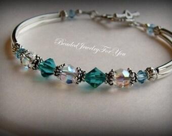 Wedding Bracelet: Bridesmaid Jewelry, jewelry for bride, bridesmaid bracelet, bridal party gift, wedding jewelry, mother of bride, wedding