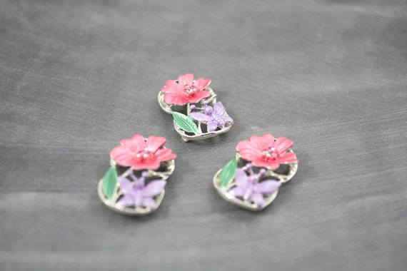 3 Large Flower and Butterfly Slider Beads