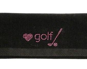 Love Golf- Golf Bling Towel