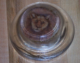 lion-head paperweight