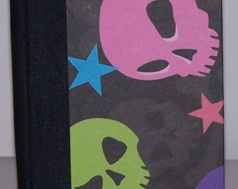 blank skull book with hot pink pages