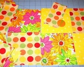 New Flowers and Polka Dots Rag Quilt Purse Complete Kit