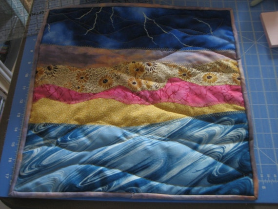 New Thunder Storm Turbulance Quilted Wall Hanging