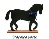 HORSE SHAPED CHALKBOARD - Select Jumping, Standing, Trotting or Rearing Design - Available in black, brown or gray