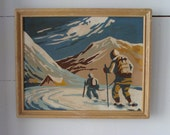 2 skiers from the Paint by Number Period