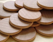 1'' Flat Wooden Circles - Set of 100