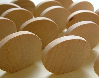 Small Flat Wooden Ovals - Set of 20 - GREAT for PENDANTS and MAGNETS