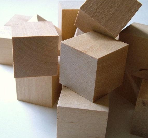 Wood Blocks - Set of 6 - 2''