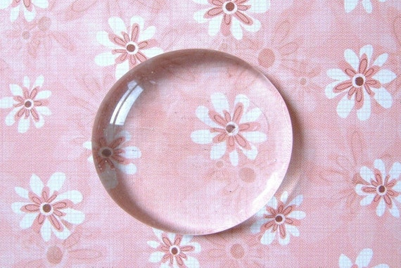 Round Clear Glass Gems - Set of 50 - 1.25''