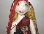 ON HOLD Hayden and Binks, Her Beloved Childhood Toy, OOAK Art Doll