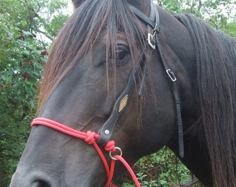 Horse Rope Bitless Bridle Attachment - Indian Bosal or Side Pull Style