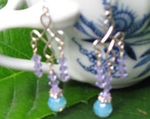 PIF Crystal chandeliers in violet and aqua