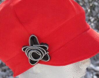Red Corduroy Newsboy