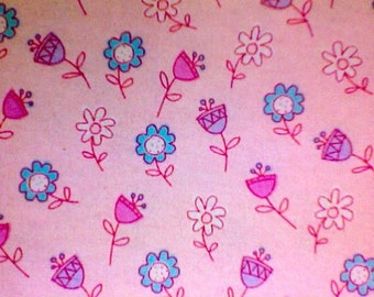 Last Pair PIXIE FLOWER Flannel pajama/Lounge pants.  Available in children's sizes 0-3 to 4T