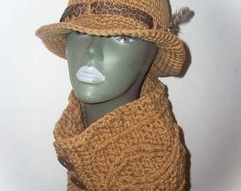 Three Button Classy Cabled cowl - Ready-to-ship