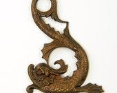 Sea Serpent Pendant - SALE Dragon Fantasy Creature Brass Pendant