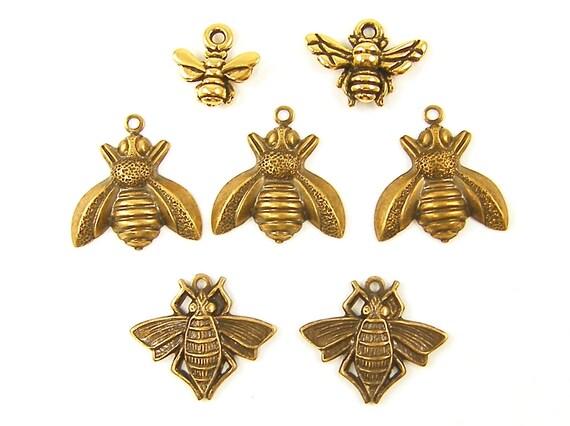 Bee Charms - Honey Bee Bumblebee Charm Assortment