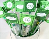 St Patrick's Day Pencil Favors - Personalized St Patricks Day Party Favors - School and Classroom St Patrick's Day Favors