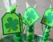 Shamrock Party Favors - Irish Party Favor Treat Bags and Tags - M&M Candy Bags/Tubes - Saint Patrick's Day, Irish Wedding, Irish Dance