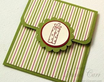 Christmas Gift Card Holder - Christmas Tip Envelope - Christmas Money Cards - Holiday Money Envelopes - Red and Green Christmas Cards