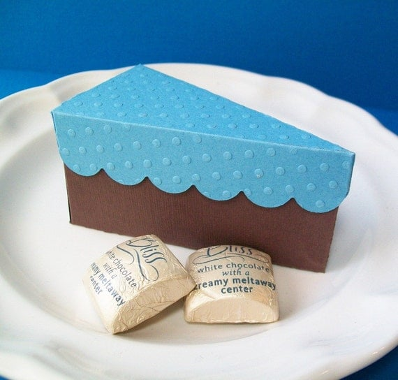 Blue Lightning Favor Boxes : Items similar to paper cake party favor box blue and